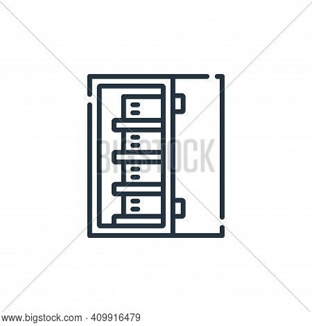 server icon isolated on white background from database and servers collection. server icon thin line