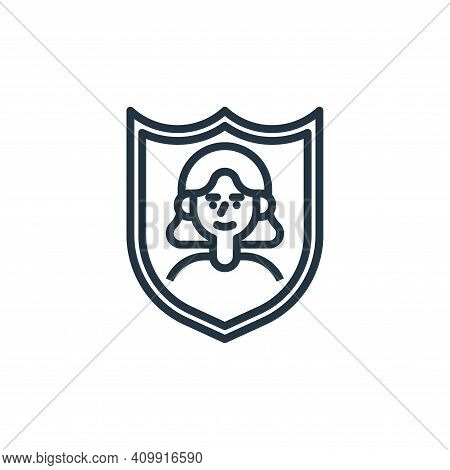security icon isolated on white background from user experience collection. security icon thin line
