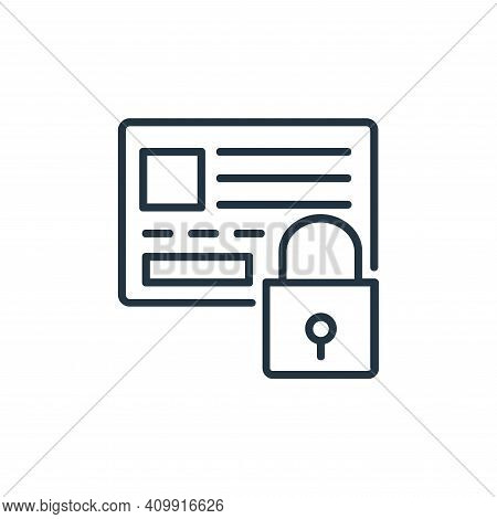 secure payment icon isolated on white background from shopping line icons collection. secure payment