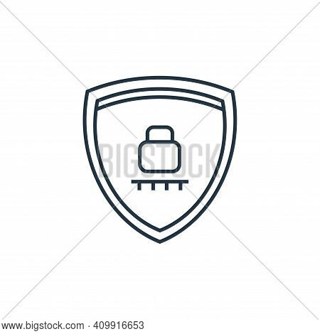 secured icon isolated on white background from online shopping collection. secured icon thin line ou