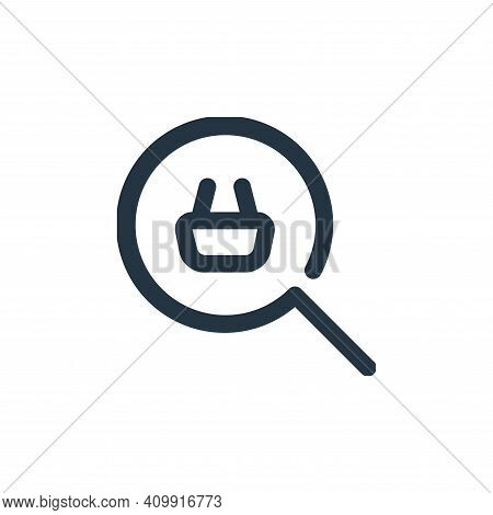 search icon isolated on white background from shopping collection. search icon thin line outline lin