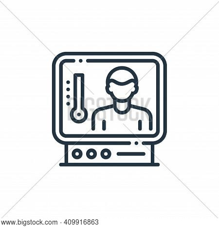screening icon isolated on white background from virus spread collection. screening icon thin line o