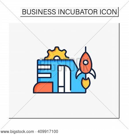 Startup Company Color Icon. Launch Of New Business Plan. Smart Technology Concept.business Idea Deve