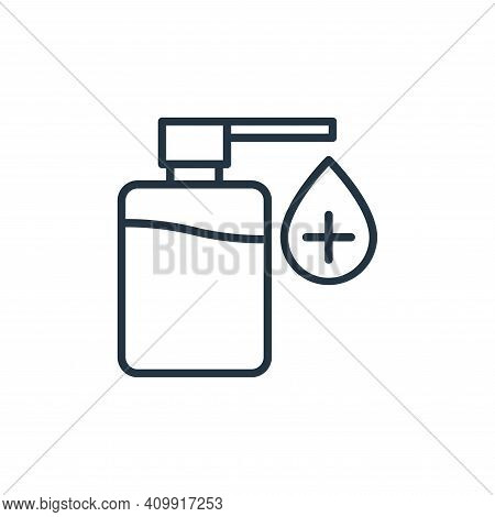 sanitizer icon isolated on white background from stop virus collection. sanitizer icon thin line out
