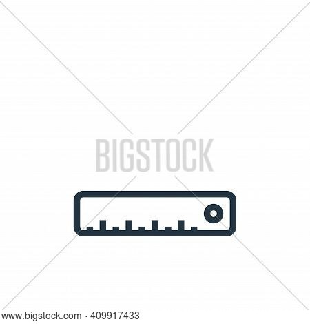 ruler icon isolated on white background from education collection. ruler icon thin line outline line