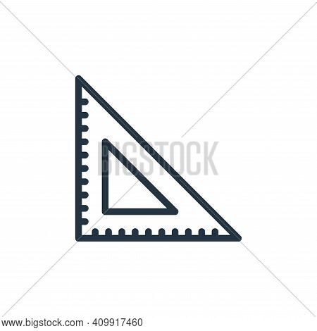 ruler icon isolated on white background from miscellaneous collection. ruler icon thin line outline