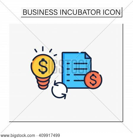 Great Business Plan Color Icon. Perfect Idea For Making Money. Startup Project Foundation. Advantage