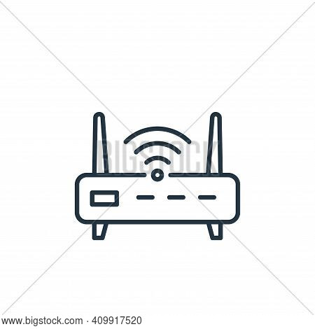 router icon isolated on white background from internet of things collection. router icon thin line o
