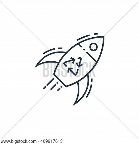 rocket icon isolated on white background from environment and eco collection. rocket icon thin line