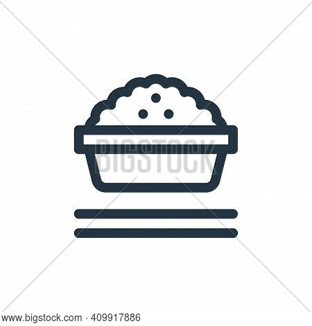 rice bowl icon isolated on white background from gastronomy collection. rice bowl icon thin line out