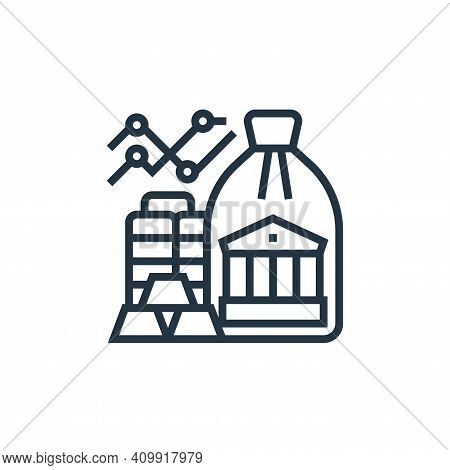 reserve icon isolated on white background from economic crisis collection. reserve icon thin line ou