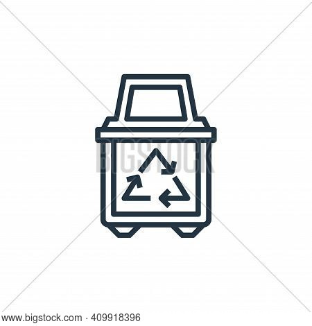 recycle bin icon isolated on white background from stationery collection. recycle bin icon thin line