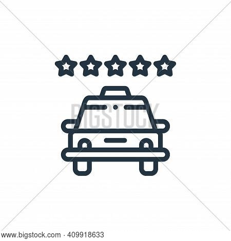 rating icon isolated on white background from taxi service collection. rating icon thin line outline