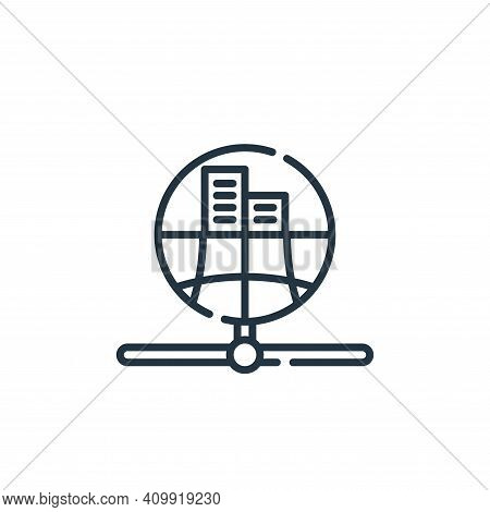 public icon isolated on white background from database and servers collection. public icon thin line