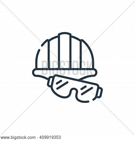 protection icon isolated on white background from industrial process collection. protection icon thi