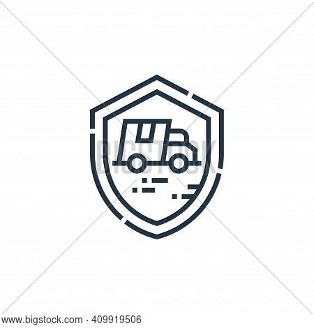 protect icon isolated on white background from delivery collection. protect icon thin line outline l
