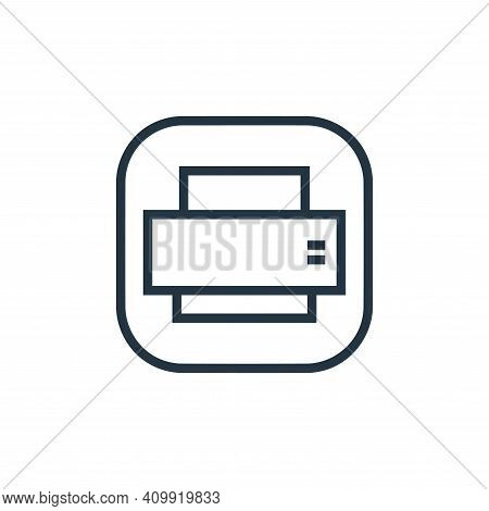 printer icon isolated on white background from hardware and gadgets collection. printer icon thin li