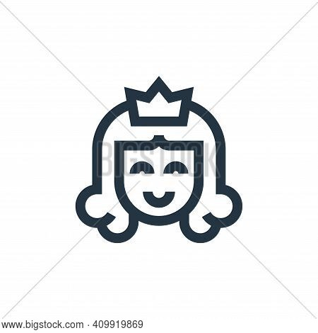 princess icon isolated on white background from video game elements collection. princess icon thin l