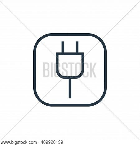 power cord icon isolated on white background from hardware and gadgets collection. power cord icon t