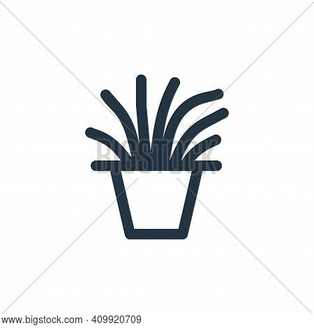 plant pot icon isolated on white background from landscaping equipment collection. plant pot icon th