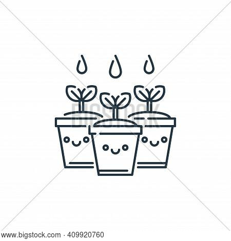plant icon isolated on white background from mother earth day collection. plant icon thin line outli