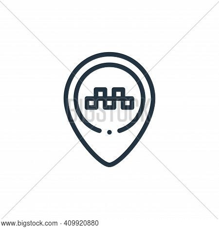 placeholder icon isolated on white background from taxi service collection. placeholder icon thin li