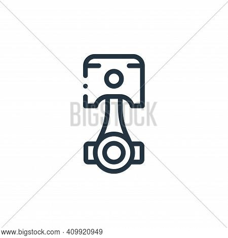 piston icon isolated on white background from autoracing collection. piston icon thin line outline l