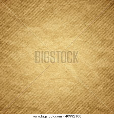 Brown grunge paper striped background or texture