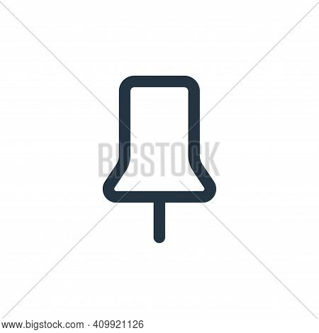 pin icon isolated on white background from business collection. pin icon thin line outline linear pi