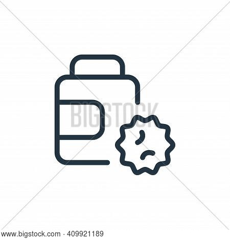 pills bottle icon isolated on white background from coronavirus collection. pills bottle icon thin l