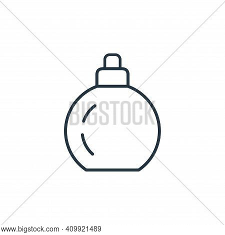 perfume icon isolated on white background from accessory collection. perfume icon thin line outline