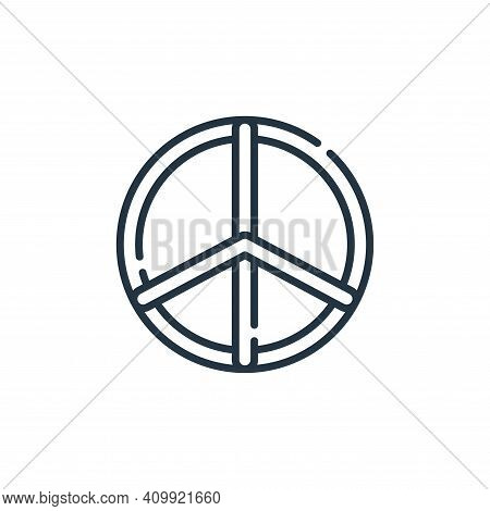 peace symbol icon isolated on white background from hippies collection. peace symbol icon thin line