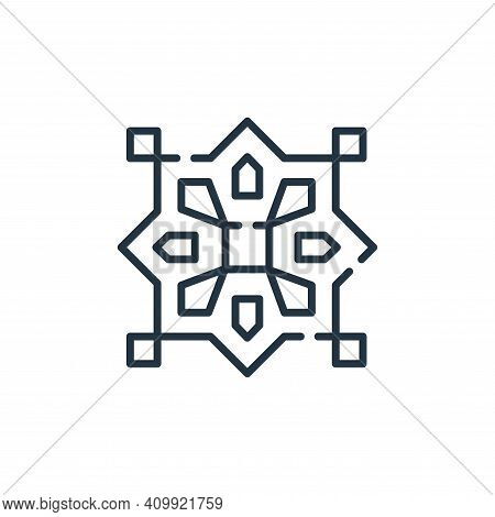 pattern icon isolated on white background from desert collection. pattern icon thin line outline lin