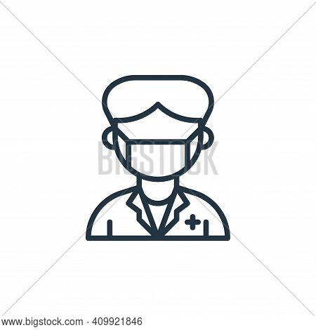 paramedic icon isolated on white background from coronavirus collection. paramedic icon thin line ou