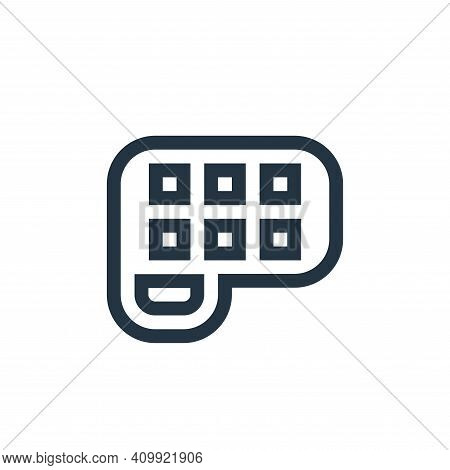 palette icon isolated on white background from mental health collection. palette icon thin line outl