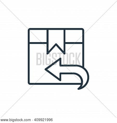 package delivery icon isolated on white background from shopping line icons collection. package deli