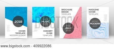 Abstract Cover. Posh Design Template. Suminagashi Marble Modern Poster. Posh Trendy Abstract Cover.