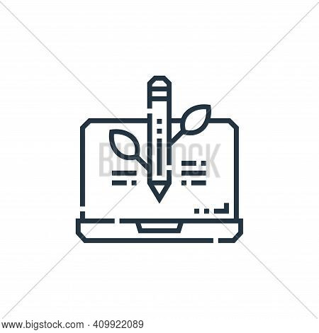 organic icon isolated on white background from marketing collection. organic icon thin line outline