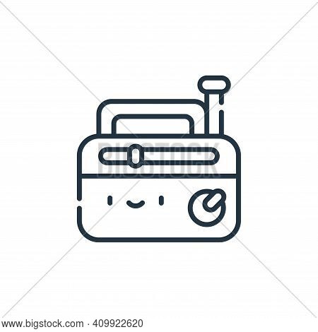 old radio icon isolated on white background from reggae collection. old radio icon thin line outline