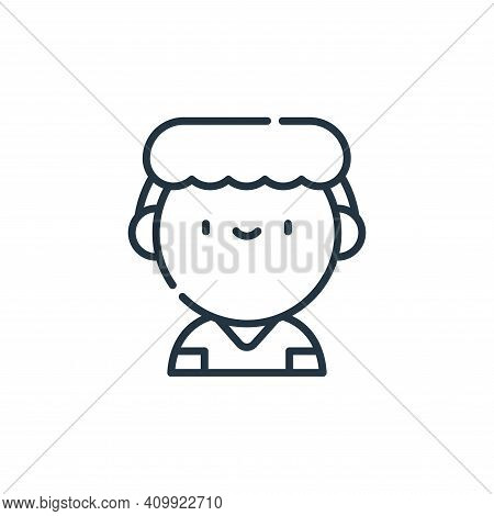 nurse icon isolated on white background from labour day collection. nurse icon thin line outline lin
