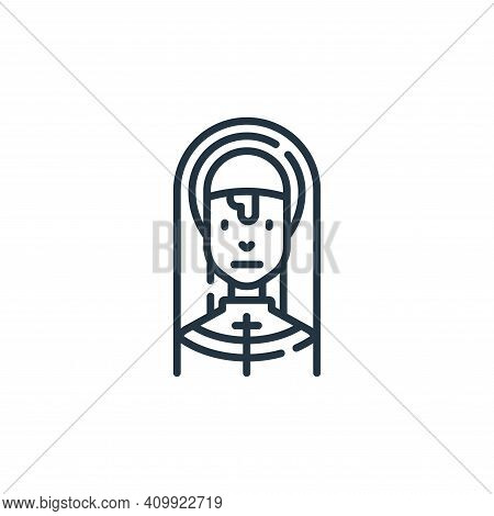 nun icon isolated on white background from fantastic characters collection. nun icon thin line outli