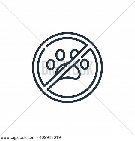 no pets icon isolated on white background from signals and prohibitions collection. no pets icon thi