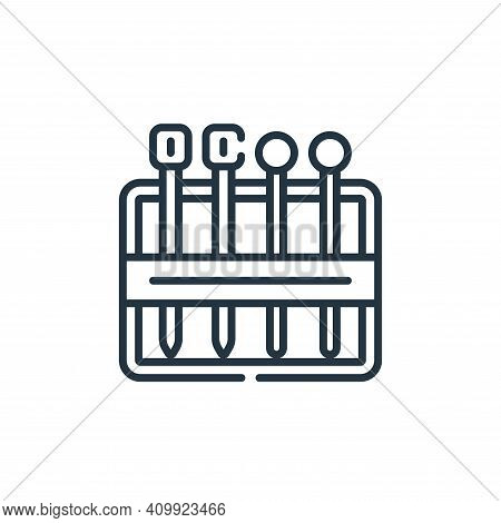needles icon isolated on white background from sewing collection. needles icon thin line outline lin
