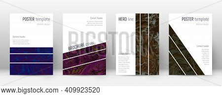 Abstract Cover. Adorable Design Template. Suminagashi Marble Geometric Poster. Adorable Trendy Abstr
