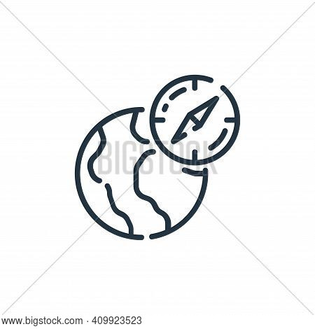 navigation icon isolated on white background from startup collection. navigation icon thin line outl