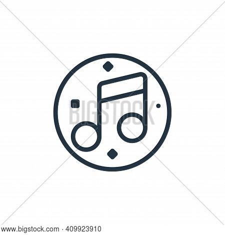 musical note icon isolated on white background from music and sound collection. musical note icon th