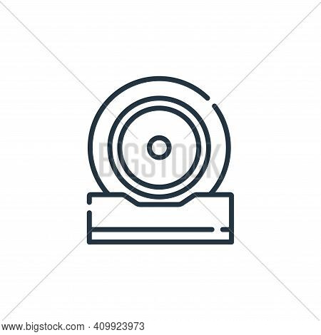 music icon isolated on white background from hippies collection. music icon thin line outline linear