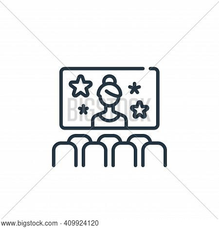 movie icon isolated on white background from fame collection. movie icon thin line outline linear mo