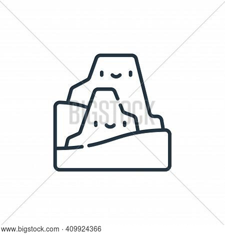 mountain icon isolated on white background from desert collection. mountain icon thin line outline l