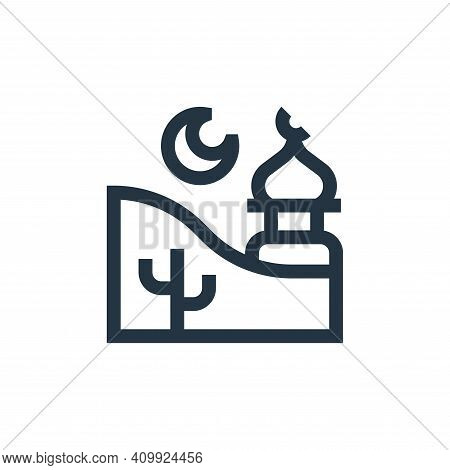 mosque icon isolated on white background from ramadan collection. mosque icon thin line outline line